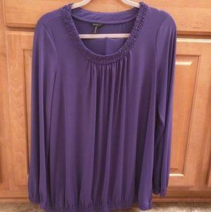 Purple size Large dress shirt.